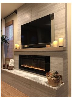 Living Room Decor Fireplace, Home Fireplace, Living Room Tv, Living Room Remodel, Fireplace Design, Living Room Lighting, Modern Fireplace Decor, Fireplace Ideas, Apartment Living