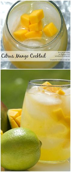 Citrus Mango Cocktail With the perfect flavor combination of tart and sweet, this Citrus Mango Cocktail recipe with vodka and freshly squeezed juice is sure to be one of your new favorite summer drinks! – Cocktails and Pretty Drinks Fun Cocktails, Summer Drinks, Cocktail Drinks, Fun Drinks, Alcoholic Drinks, Mango Cocktail, Best Cocktail Recipes, Brunch, The Best