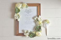 ゼクシィ掲載 / 雑誌等の手づくり企画のために作ったオリジナルウェディングアイテム /ゼクシィ / 結婚証明書 / ペン / flower / wedding / オリジナルウェディング / プティラブーシュカ / トキメクウェディング