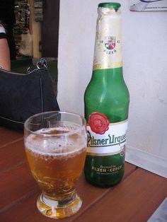 Local Beer Pilsner Urquell Beer, the first pilsner type beer in the world. Czech Republic