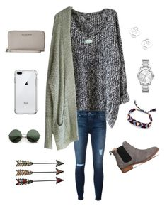 """""""Cold Jan Day❄️"""" by lizakappil on Polyvore featuring Hudson, Free People, Kendra Scott, Office, Rebecca Minkoff, Michael Kors and MICHAEL Michael Kors"""