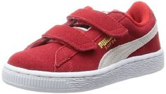 Puma Suede 2 straps Inf, Unisex-Kinder Sneakers, Rot (high risk red-white 03), 27 EU (9 Kinder UK) - http://on-line-kaufen.de/puma/27-eu-puma-classic-suede-2-straps-kids-unisex
