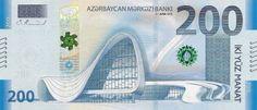 200 Azerbaijani manat in 2018 Obverse - Heydar Aliyev Center - Wikipedia Macau, Cambodia, Valencia, Portugal, Finance, Culture, Money, Projects, Log Projects