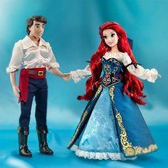Disney Designer Fairytale Couples Ariel Eric Little Mermaid Le 6000 Doll New