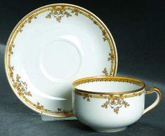 Haviland Schleiger 513 Flat Cup & Saucer Set