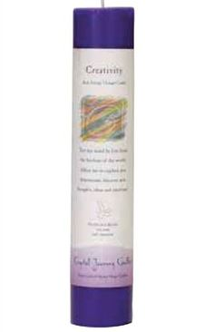 Crystal Journey Pillar Candles- Creativity