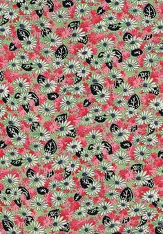 Vintage 1930s Fabric, Reclaimed Dress Crepe, Floral, Red, Black, White, Green | eBay