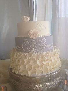 Ruffled elegance! Bakery, California, Elegant, Desserts, Food, Classy, Tailgate Desserts, Deserts, Essen
