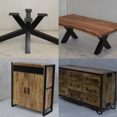 Industrial Design Urban Loft Wooden Metal Furniture For Home From Jodhpur Modern Industrial Furniture, Industrial Table, Metal Furniture, Furniture Design, Table Desk, Dining Table, Urban Loft, Furniture Manufacturers, House Design