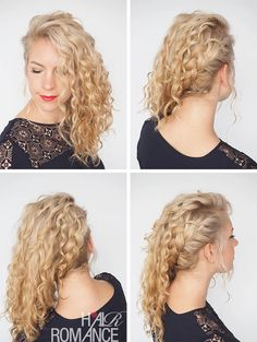 Another curly hairstyle tutorial from Hair Romance's 30 Days of Curly Hairstyles ebook - find it at http://www.hairromance.com/shop and learn how to master your curls
