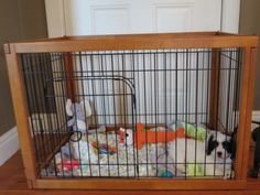 Richell Pet Pen Review  This little puppy playpen is a super tool for house-training a puppy, roomy enough for toys and attractive enough to look like a piece of furniture.  Helps make puppy potty training go so much quicker! Available on Amazon, love it!