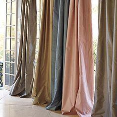 Putty Silk Shantung Window Panel | Serena & Lily