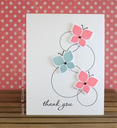 three mod butterflies popped up over an arrangement of dotted circle outlines.like the grouping. Making Greeting Cards, Greeting Cards Handmade, Scrapbooking, Scrapbook Cards, Butterfly Cards, Sympathy Cards, Paper Cards, Cool Cards, Creative Cards