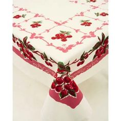 "Vintage Look Cherries Tablecloth 52"" x 64"" review 