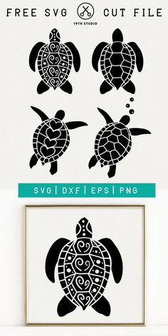 Free Sea Turtle SVG Files | Free SVG Files #cricut #svg #svgfiles #seaturtle #turtle