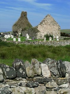 Clondahorkey church ruins near Dunfnaghy Co. Donegal, Ireland