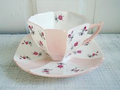 Vintage Shelley Tea Cup and Saucer Pink