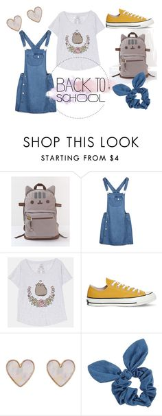 """#PVxPusheen"" by marine-redon on Polyvore featuring mode, Pusheen, Converse, New Look, Dorothy Perkins, contestentry et PVxPusheen"