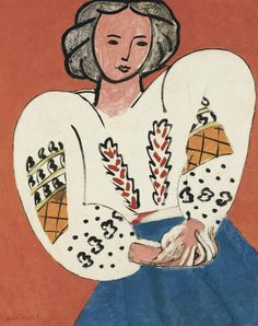 Henri Matisse 'La blouse roumaine' (The Romanian Blouse), Centre Georges Pompidou, Paris Henri Matisse, Matisse Kunst, Matisse Art, Matisse Drawing, Pablo Picasso, Raoul Dufy, Matisse Pinturas, Matisse Paintings, Art Paintings