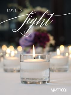 Love is Light <3 Get 36 Floating Candle Centerpieces for $36. Choose from over 45 colors. <3