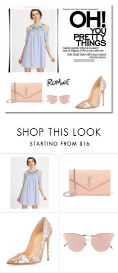 """""""Romwe"""" by nosingl ❤ liked on Polyvore featuring Yves Saint Laurent and So.Ya"""