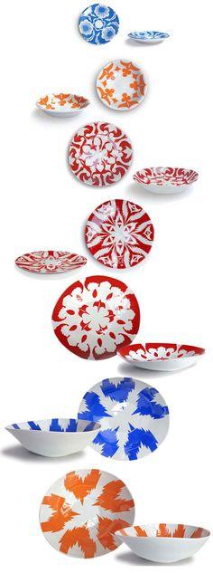 Tse&Tse inspired with Uzbekistan colorful collection of tableware