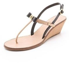 shopstyle.com: Tory burch Kailey Wedge Thong Sandals