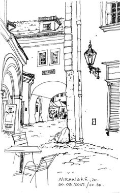 Home Decorating Stores Dallas Product Ink Pen Drawings, Art Drawings Sketches, Architecture Drawing Sketchbooks, City Sketch, Building Illustration, Arte Sketchbook, Perspective Drawing, House Drawing, Urban Sketchers