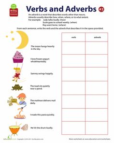 Collection Verbs And Adverbs Worksheet Photos - Studioxcess
