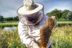 Sometimes we suit up especially late in season when bees are preparing for winter, protecting their honey stores from hungry animals and insects. Honey Store, Top Bar Hive, Beekeeping, Bird Feeders, Insects, Suit, Winter, Animals, Bees