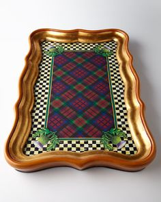 B&W checks, tartan and a tray. .....MacKenzie-Childs Highland Tray
