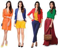 minha essência: Como combinar as cores das roupas...