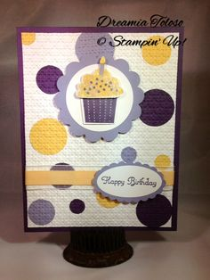 This is a very nice and high quality card made with all Stampin' Up products.