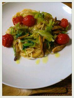 細うどん de パスタ tomato pasta