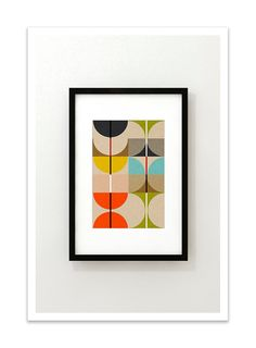SWAN no.3 Giclee Print Mid Century Contemporary Modern by Thedor