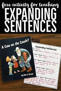 Expanding Sentences Activity - A Teachable Teacher Second Grade Writing Prompts, Sentence Writing, Writing Lessons, Teaching Writing, Writing Ideas, Writing Practice, Writing Sentences, Teaching Strategies, How To Teach Writing