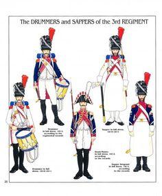 Tamburi e zappatori del 3 rgt. granatieri olandesi della guardia imperiale
