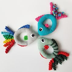 The crochet fishrattle is a tiny playfish for small hands.