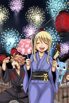 Natsu, Lucy & Happy