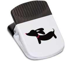 While your long one will likely want to use these doxie magnetic clips for yummy wiener dog treats, it's also useful for human potato chips and posting reminders about how awesome your doxie is on the