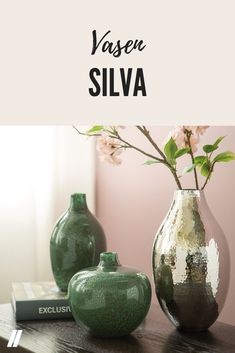 """Die Weihnachtsdekoration geht. Der Frühling hält Einzug. 🌸 Wir halten schon mal die schönsten Vasen bereit. 🥰 ➡ Vase """"Silva grün"""" breit [305443] ⬅ ➡ Vase """"Silva grün"""" schmal [305498] ⬅ . . . #OSTERMANN #meinostermann #solebich #dekoideen #wohnidee #homedetails #instahome #interior_design #germaninteriorbloggers #garderobe #garderobenset #einrichtung #instahome #interior123 #interiorforyou #hygge #gemütlich Hygge, Inspiration, Home Decor, Design, Decorating Ideas, Creative, Collection, Garden Parties, Vases"""