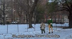 """""""So, good news... I saw a dog today!"""" 