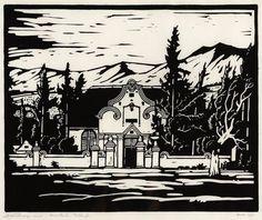 Kruiskerk, Tulbagh by Jacob Hendrik Pierneef African Paintings, Encaustic Art, Art Boards, Printmaking, Original Artwork, Art Projects, Arts And Crafts, Stamp, Black And White