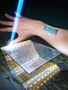 Researchers at the Korea Advanced Institute of Science and Technology have developed a novel method for creating skin-like transparent oxide thin-film transistors that they say will revolutionize wearable displays for consumer electronics. Wearable Device, Wearable Technology, Science And Technology, Gadgets And Gizmos, Tech Gadgets, Flexible Screen, Flexible Display, Energy Harvesting, Thin Film