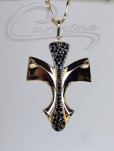 Pingente Cruz coleção Masculina 10 camadas de ouro 18k - Joias Carmine