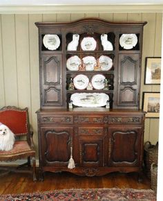Antique French Country Buffet Hutch Server Sideboard Plate Rack Solid Carved Oak #FrenchCountryProvincial #Craftsmenofthatera & K\u0026Co. Antiques. French Antique \u0026 Industrial vintage. Interior ...
