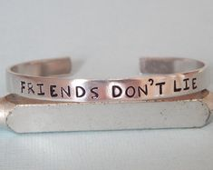 Friends Don't Lie, Stranger Things Inpired Bracelet - Inspirational Gift, Handmade, Gift Under 20