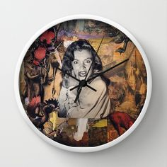 FREE SHIPPING EXPIRES SUNDAY 7/27/14 The Stuff Nightmares Are Made Of Wall Clock by LadyJennD - $30.00