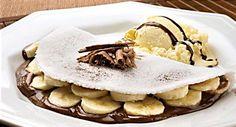 tapioca de banana com chocolate - Carol Celico