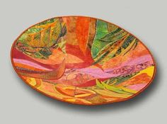 Garden Parade fabric bowl by Hilde Morin Fabric Art, Fabric Crafts, Fabric Bowls, Paper Bowls, Paper Mache Crafts, 3d Quilts, Small Sewing Projects, Textile Fiber Art, Quilting Designs